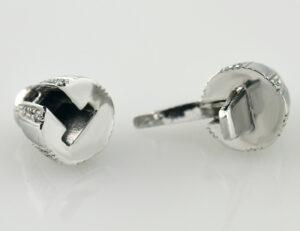 Perlenkettenschloß 750 18 K Weißgold 24 Diamanten zus. 0,15 ct