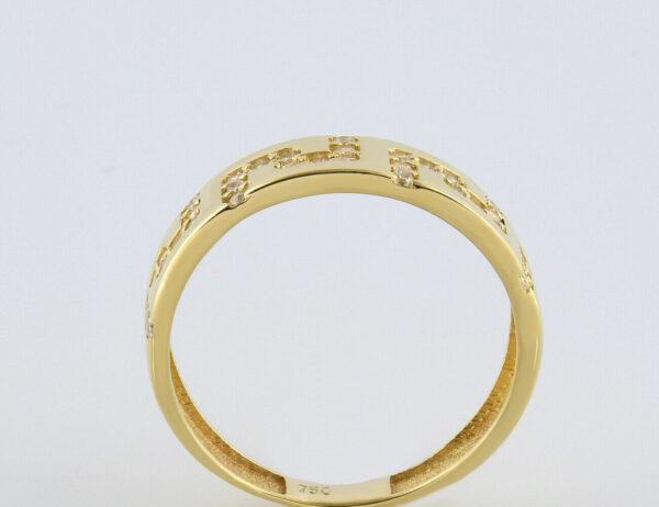 Ring 750/000 18 K Gelbgold Zirkonia