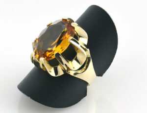 Ring Citrin 585 14 K Gelbgold