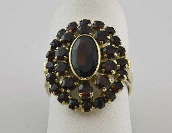 Ring Granat 333 8 K Gelbgold