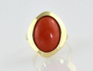 Ring Koralle 333/000 8 K Gelbgold