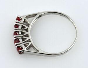 Rubin Ring 585/000 14 K Weißgold