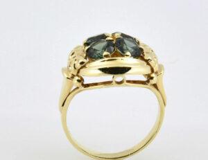 Turmalin Ring 333/000 8 K Gelbgold