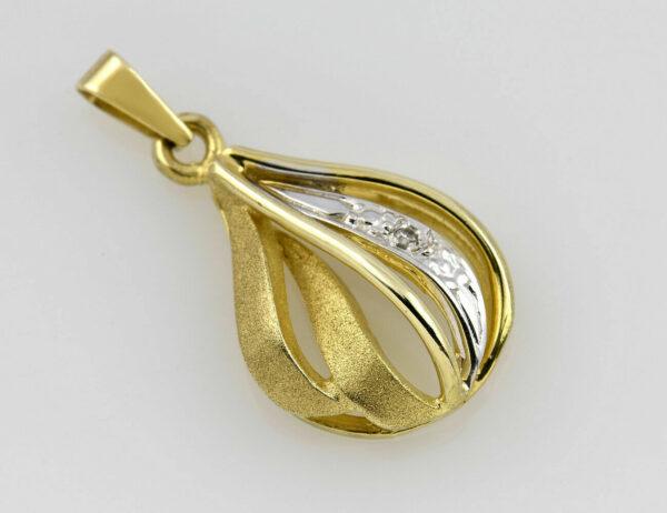 Anhänger 333/000 8 K Gelbgold 1 Diamant 0,01 ct