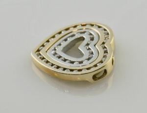 Anhänger Diamant 585 14 K Gelbgold/Weißgold 43 Brillanten zus. 0,50 ct