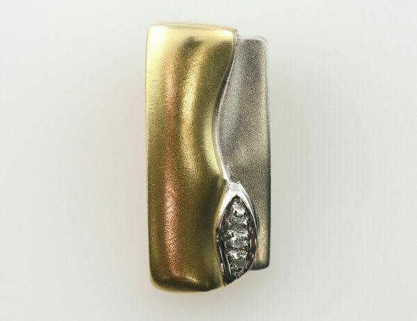 Anhänger-Diamant 585/000 14 K Gelbgold 3 Diamanten