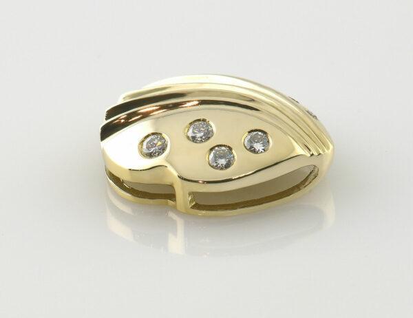 Anhänger-Diamant 585/000 14 K Gelbgold 9 Brillanten zus. 0,33 ct
