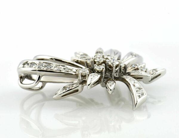Anhänger Diamant 585/000 14 K Weißgold 38 Diamanten zus. 1,00 ct