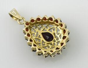 Anhänger Granat 333 8 K Gelbgold