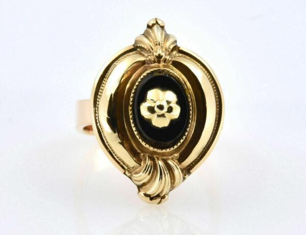 Antiker Onyx Ring 585/000 14 K Gelbgold