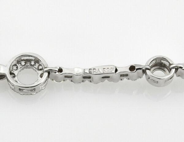 Armband 18,50 cm 585/000 14 K Weißgold Zirkonia