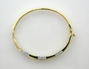 Armreif 585/000 14 K Gelbgold 75 Brillanten zus. 0,40 ct