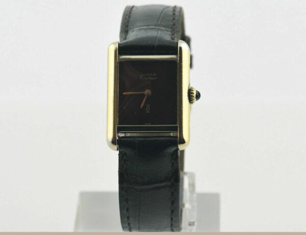 Cartier Tank Argent Damenuhr Handaufzug 925/000 Vergoldet