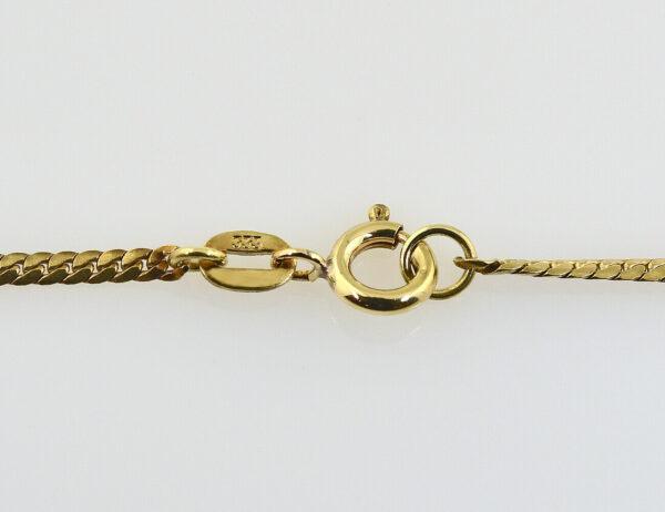 Collier Saphir, Rubin, Smaragd, 333/000 8 K Gelbgold 42 cm