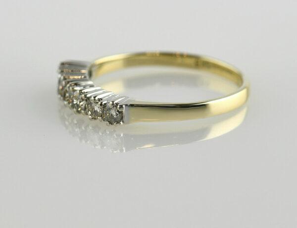 Diamant Ring 585 14 K Gelbgold 7 Brillanten zus. 0,40ct