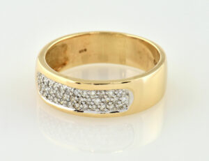 Diamant Ring 585/000 14 K Gelbgold 37 Brillanten zus. 0,50 ct
