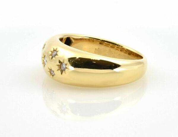 Diamant Ring 750/000 18 K Gelbgold 7 Brillanten zus. 0,20 ct