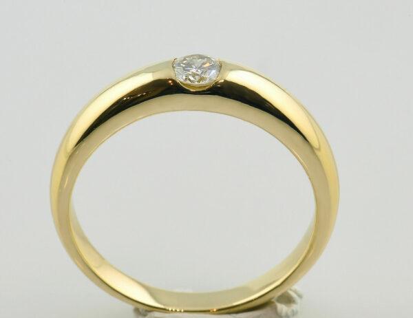 Diamant Solitär Ring 585 14 K Gelbgold Brillant 0,26 ct