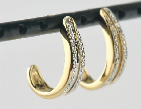 Ohrstecker 585/000 14 K Gelbgold 10 Diamanten zus. 0,10 ct