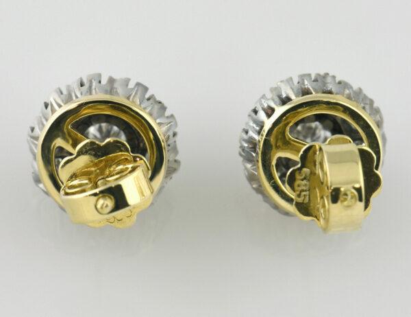 Ohrstecker 585/000 14 K Gelbgold, 20 Brillanten zus. 0,30 ct