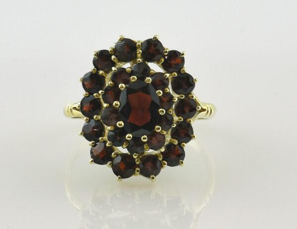 Ring Granat 585 14 K Gelbgold