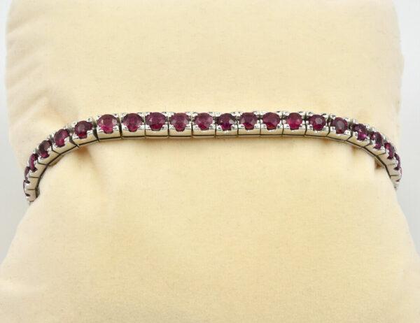 Rubin Armband 750/000 18 K Weißgold Länge 17,50 cm