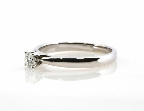 Solitär Diamantring 585/000 14 K Weißgold Brillant 0,25 ct