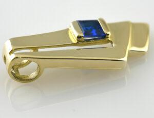 Anhänger 375 9 K Gelbgold Zirkonia