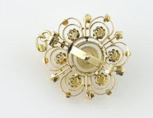 Anhänger 7 Perlen 585/000 14 K Gelbgold