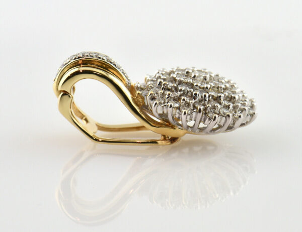 Anhänger Diamant 585/000 14 K Gelbgold 60 Brillanten zus. 1,50 ct