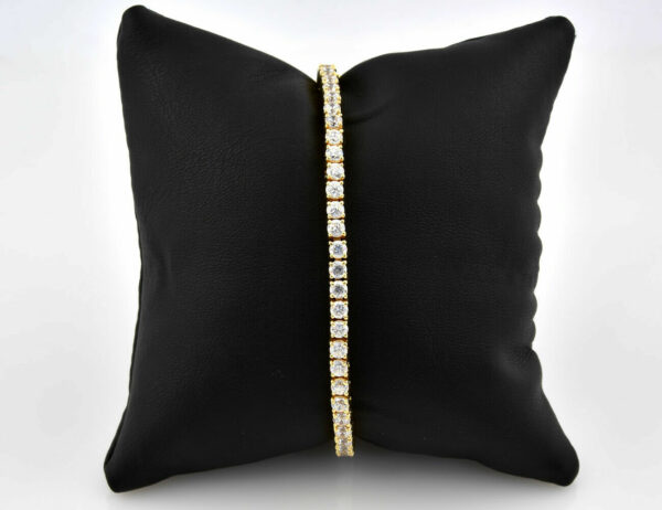 Armband 750/000 18 K Gelbgold Zirkonia 18,50 cm lang