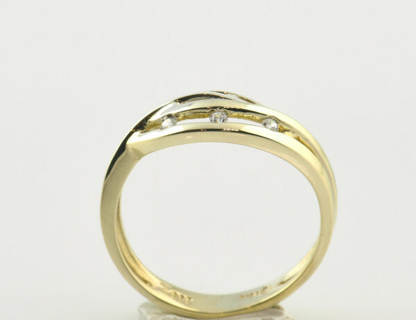 Damenring 333/000 8 K Gelbgold Zirkonia