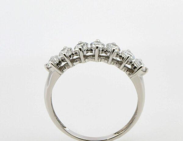 Damenring 585/000 14 K Weißgold Zirkonia