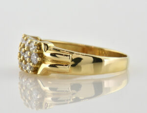Diamant Ring 585/000 14 K Gelbgold 13 Brillanten zus. 1,00 ct