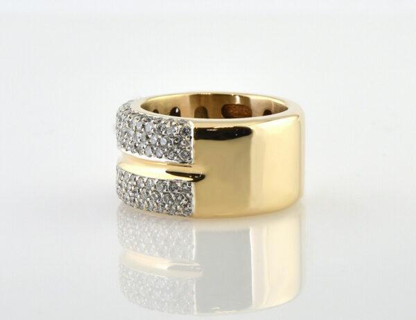 Diamant Ring 585/000 14 K Gelbgold 146 Brillanten zus. 2,00 ct