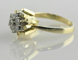 Diamant Ring 585/000 14 K Gelbgold 6 Brillanten zus. 0,50 ct