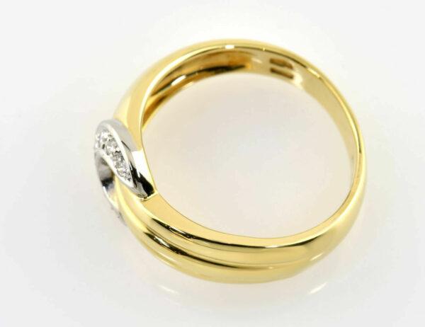 Diamant Ring 750/000 18 K Gelbgold 7 Diamanten zus. 0,10 ct