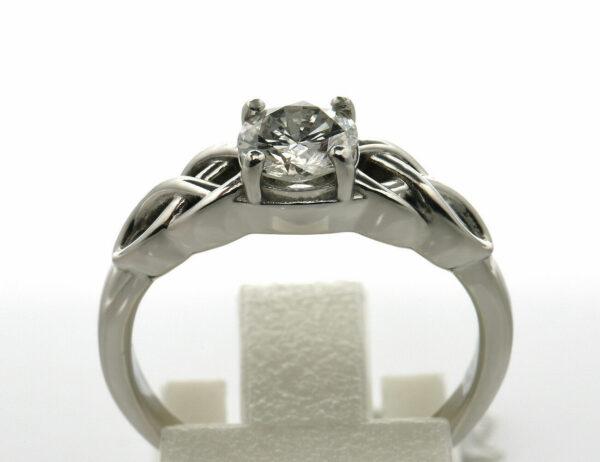 Diamantring Solitär 750 18 K Weißgold Brillant 0,70 ct