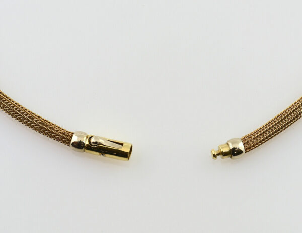Fuchsschwanz Kette 750/000 18 K Gelbgold, 43 cm lang