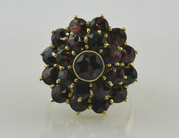 Granat Ring 333/000 8 K Gelbgold