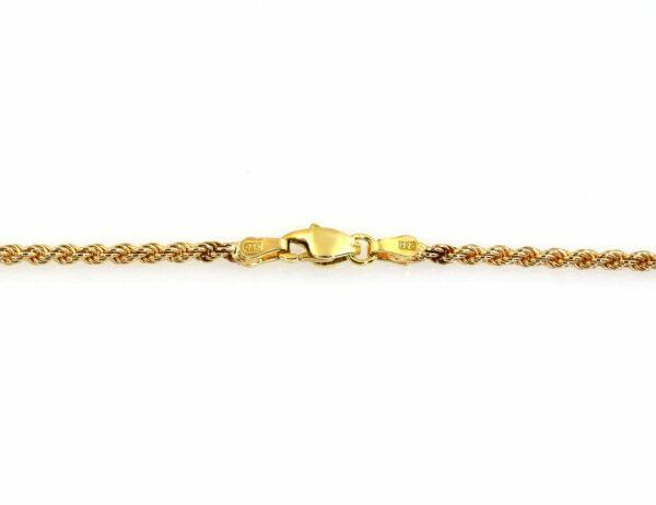 Kordelkette 585/000 14 K Gelbgold, 50 cm lang