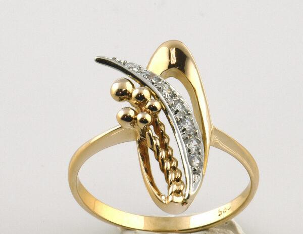 Ring 585 14 K Rotgold Zirkonia