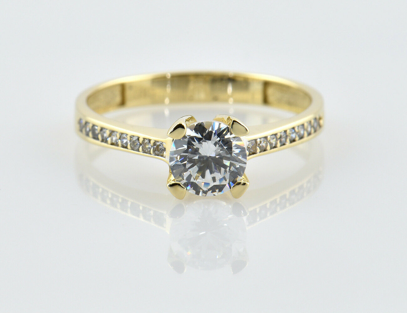 Ring 585/000 14 K Gelbgold Zirkonia