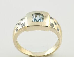 Ring Topas 333 8 K Gelbgold Zirkonia