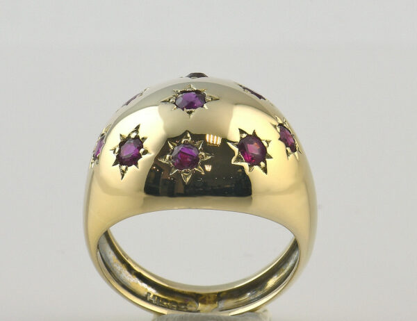 Rubin Ring 585 14 K Gelbgold