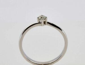 Solitär Diamantring 585/000 14 K Weißgold Brillant 0,12 ct